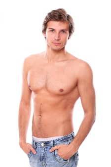 Shirtless man model
