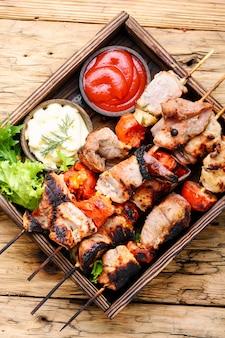 Shish kebab van varkensvlees