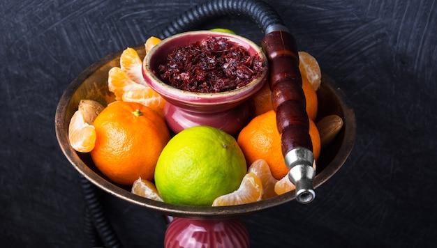 Shisha met smaak van limoen en mandarijnen