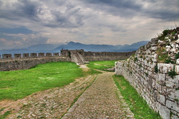 Shkodra castle in albanië, balkan