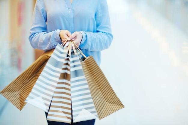 Shopaholism met zakken