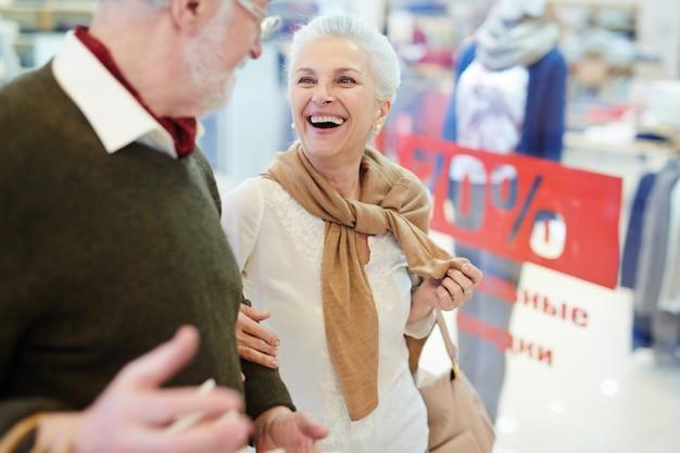 Shopper lachen
