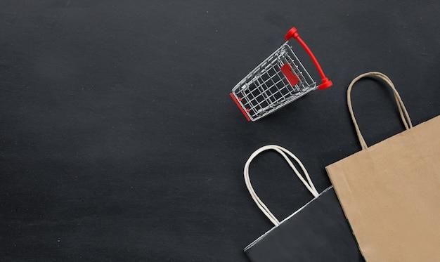 Shopping concept van zwarte vrijdag verkoop