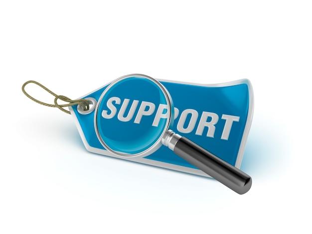 Shopping tag-ondersteuning met loep