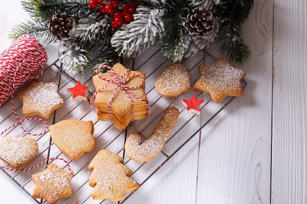 Shortbread cookies van de kerstmispeperkoek