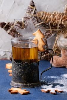 Shortbread kerstkoekjes voor kopjes