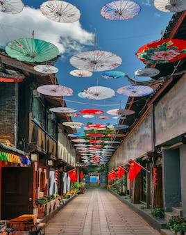 Shuhe oude stad, lijiang, yunnan, china