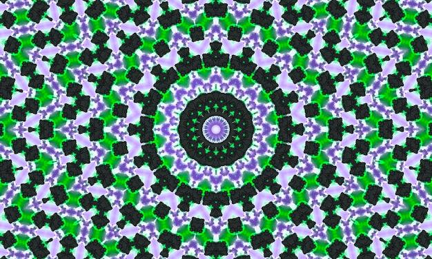 Sier decoratieve caleidoscoop beweging geometrische cirkel, abstracte bloemen caleidoscoop, geometrische etnische naadloze patroon, ingewikkelde folk background