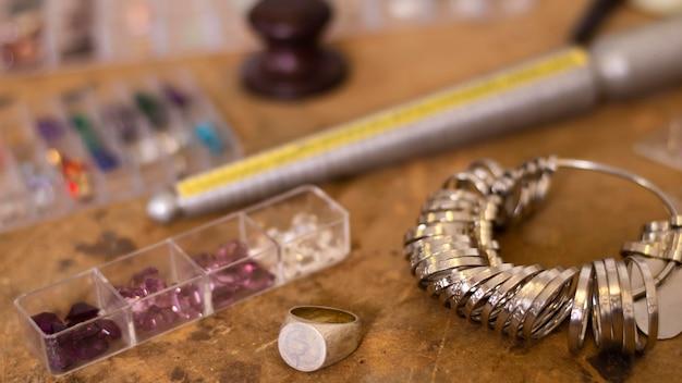 Sieraden tools voor close-up