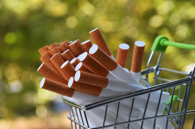 Sigaretten in een trolley