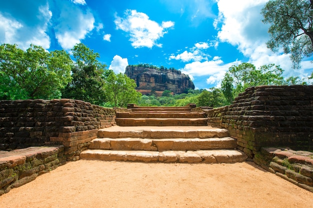 Sigiriya lion rock-fort in sri lanka