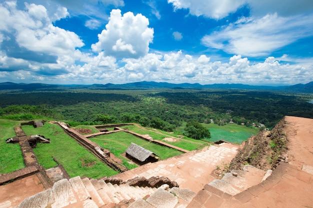Sigiriya lion rock fortress in sri lanka