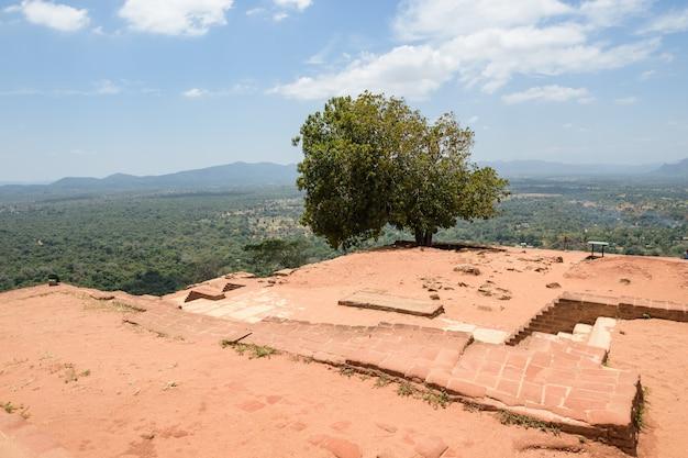 Sigiriya of sinhagiri (lion rock sinhalese) is een oud rotsfort gelegen in het noordelijke district matale in de buurt van de stad dambulla in de centrale provincie, sri lanka.