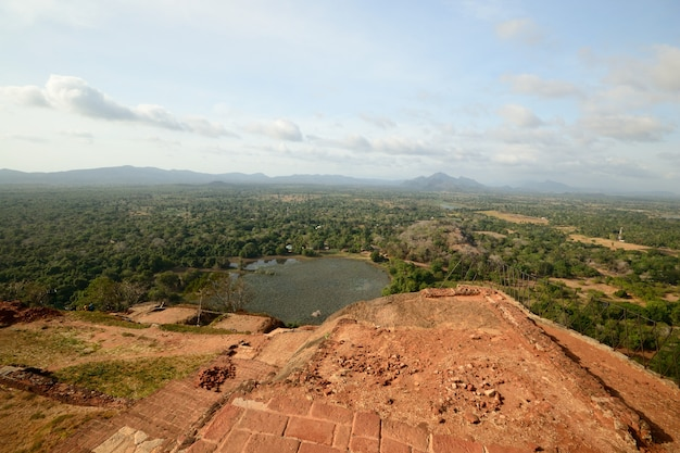Sigiriya-rots historische plaats en reisbestemming, sri lanka