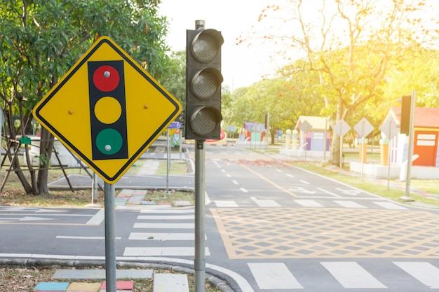 Signaal vooruit verkeer