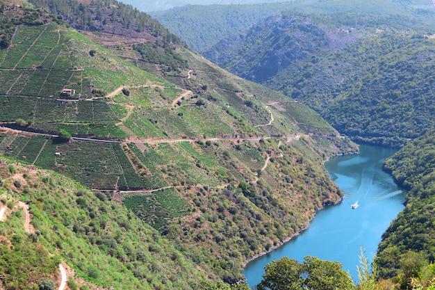 Sil canyon, ribeira sacra, ourense, galicië, spanje.