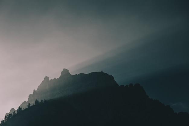 Silhouet van de berg