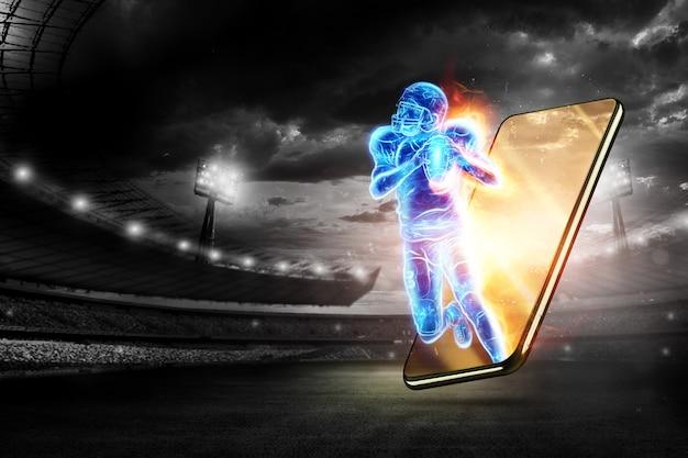 Silhouet van een american football-speler