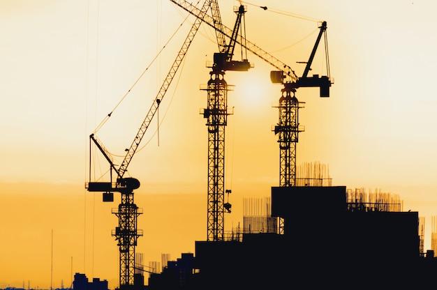 Silhouette city bouw