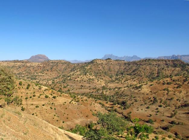 Simeonbergen in ethiopië, afrika