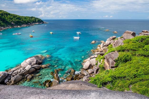 Similan-eilanden, provincie phang nga prachtige zee in het zuiden van thailand,