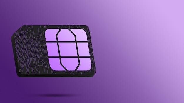 Simkaart technologisch voor de telefoon 3d