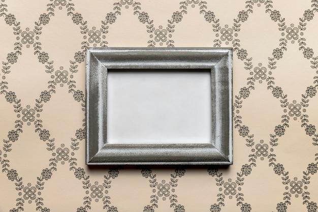 Simplistisch retro frame met patroonachtergrond