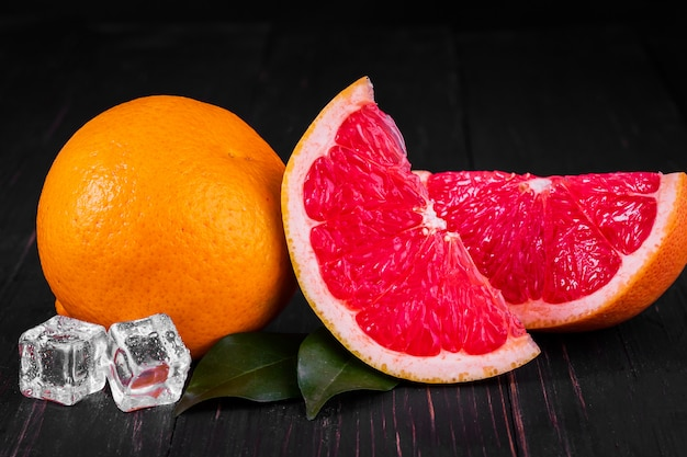 Sinaasappel- en grapefruitsap