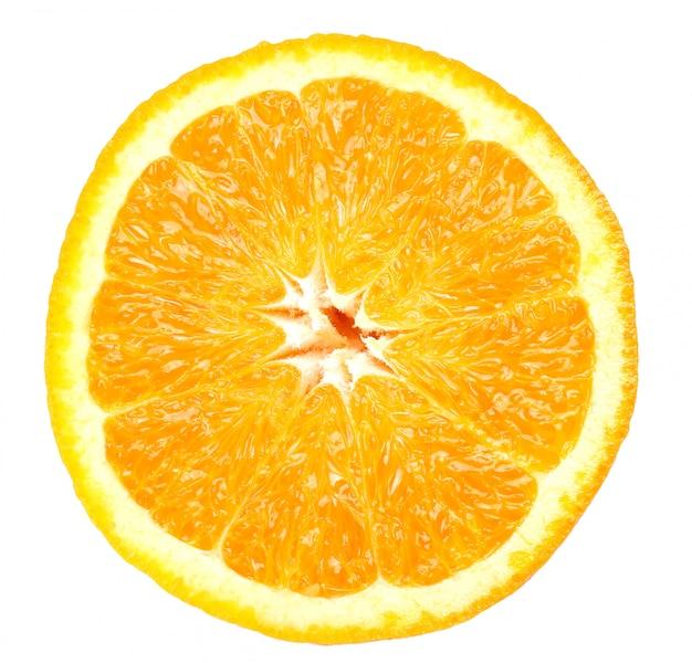 Sinaasappel op wit op wit