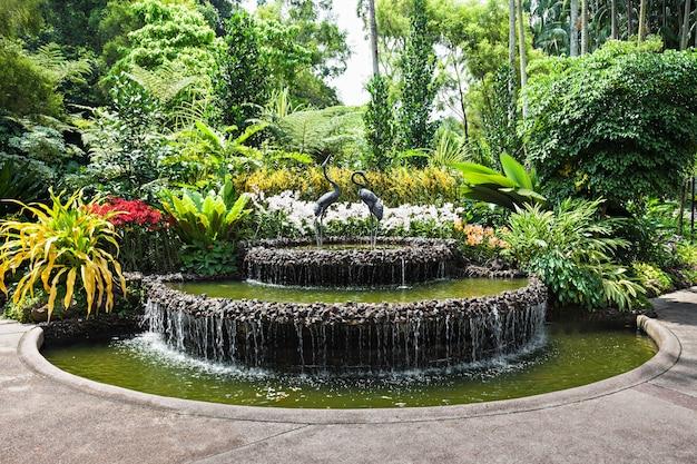 Singapore - 17 oktober 2014: the national orchid garden, gelegen in de singapore botanic gardens.