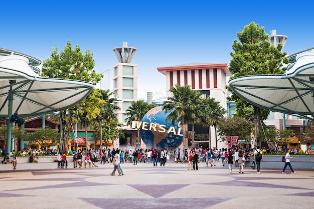 Singapore - 17 oktober 2014: universal studios singapore is een themapark gelegen in resorts world sentosa op sentosa island, singapore.