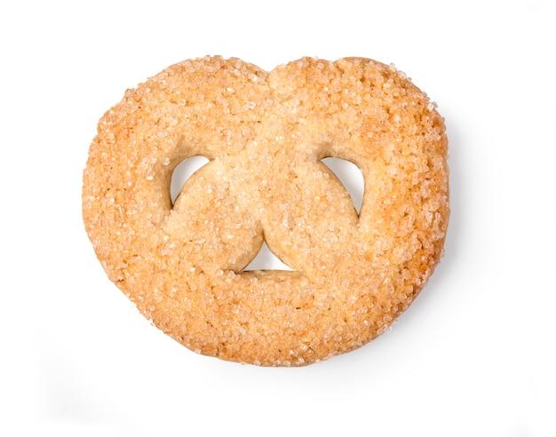 Single koekje geïsoleerd