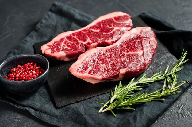 Sirloin een rauwe biefstuk.