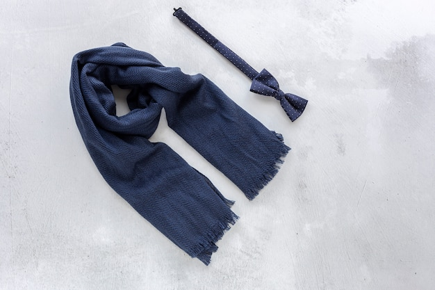 Sjaal en strikje bovenaanzicht