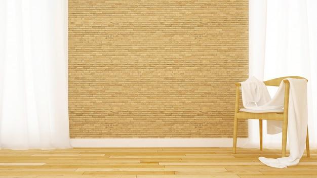 Sjaal op stoel in de kamer voor illustraties