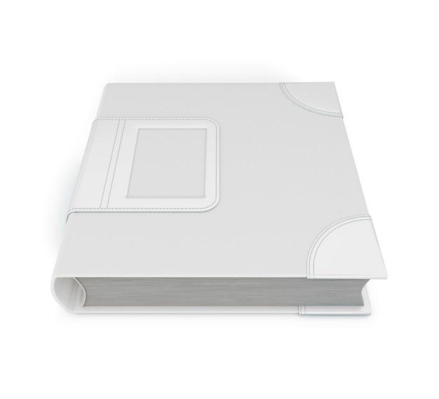 Sjabloon gesloten notebook geïsoleerd op een witte achtergrond. 3d illustratie.