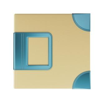 Sjabloon omslagfotoalbum voor uw ontwerp. 3d-afbeelding.