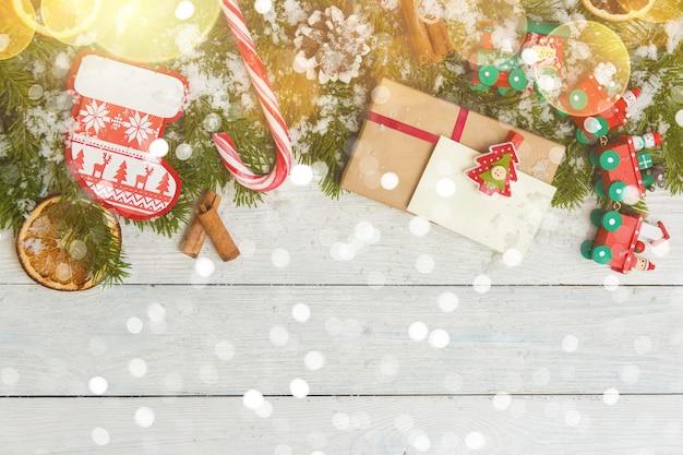 Sjabloon voor nieuwjaarsruimte voor tekst. mockup voor reclame, gefeliciteerd