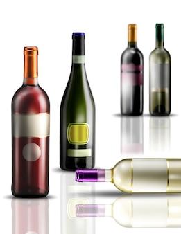 Sjabloon wijnfles etiketten