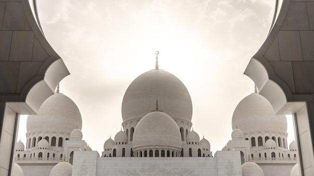 Sjeik zayed-moskee in abu dhabi, vae