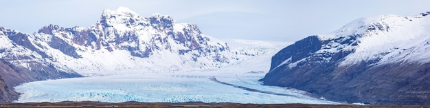 Skaftafell-gletsjer ijsland panorama