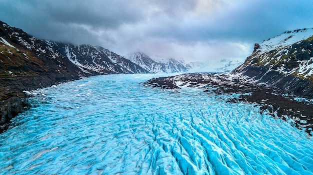 Skaftafell-gletsjer, vatnajokull national park in ijsland.