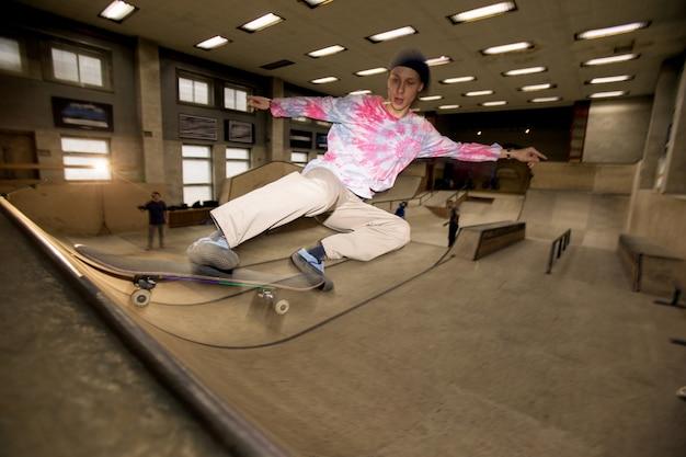 Skateboarder actiefoto