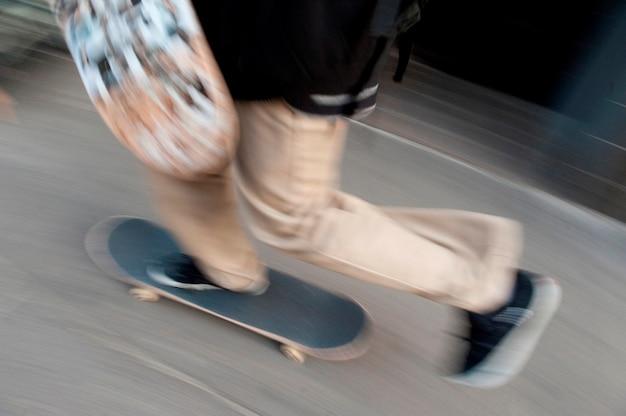 Skateboarder in boston, massachusetts, verenigde staten