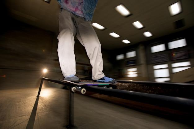 Skating stunt met flash