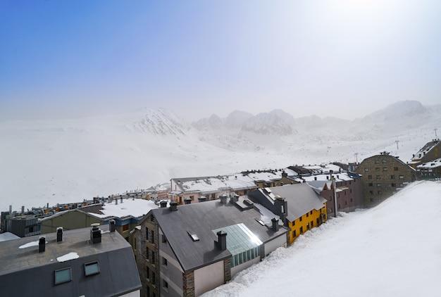 Skigebied pas de la casa van andorra