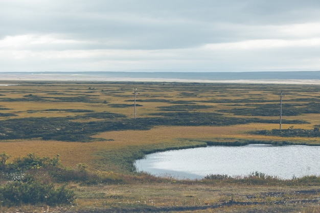 Skutustadir in het myvatn-meer, ijsland