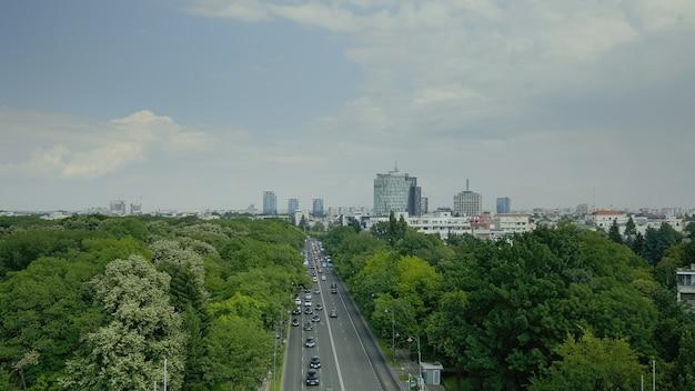 Skyline luchtlandschap van grootstedelijke stad