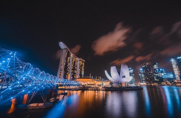 Skyline van de stad singapore singapore