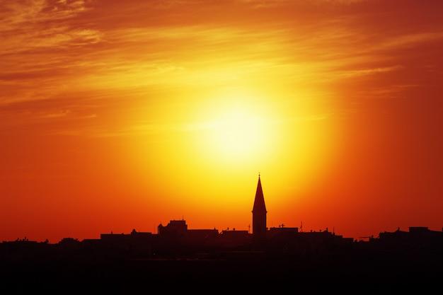 Skyline van een stad van akko, israël
